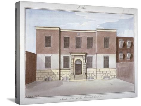 View of Borough Compter, a Debtors' Prison in Mill Lane, Bermondsey, London, 1826-G Yates-Stretched Canvas Print