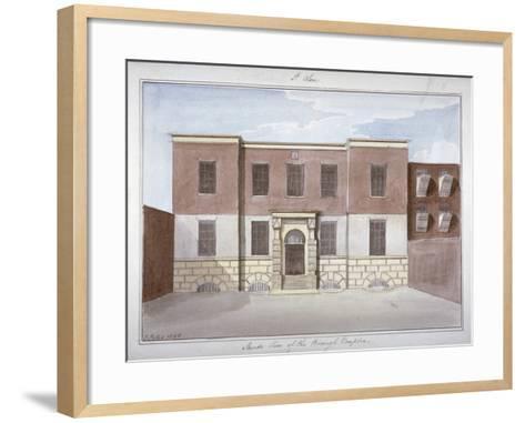 View of Borough Compter, a Debtors' Prison in Mill Lane, Bermondsey, London, 1826-G Yates-Framed Art Print
