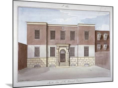 View of Borough Compter, a Debtors' Prison in Mill Lane, Bermondsey, London, 1826-G Yates-Mounted Giclee Print