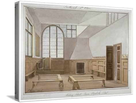 Interior View of St Olave's School on Tooley Street, Bermondsey, London, 1826-G Yates-Stretched Canvas Print