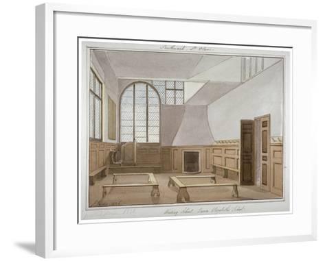 Interior View of St Olave's School on Tooley Street, Bermondsey, London, 1826-G Yates-Framed Art Print