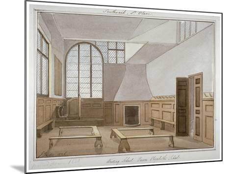 Interior View of St Olave's School on Tooley Street, Bermondsey, London, 1826-G Yates-Mounted Giclee Print