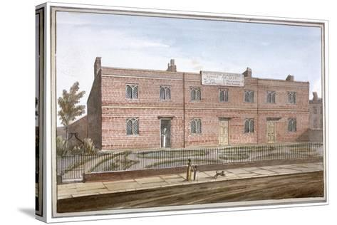 View of Drapers' Almshouses in St George's Fields, Southwark, London, 1825-G Yates-Stretched Canvas Print