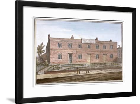 View of Drapers' Almshouses in St George's Fields, Southwark, London, 1825-G Yates-Framed Art Print
