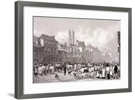 Smithfield Market, London, C1830-George Cooke-Framed Art Print