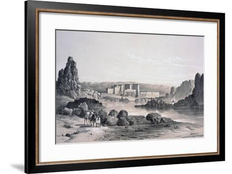 Philae, Looking South, Egypt, 1843-George Moore-Framed Art Print