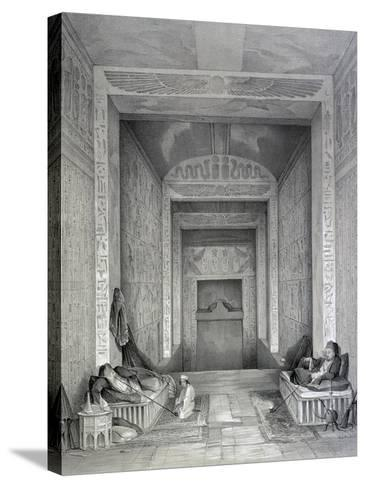 Interior of a Temple, Egypt, 19th Century-George Moore-Stretched Canvas Print