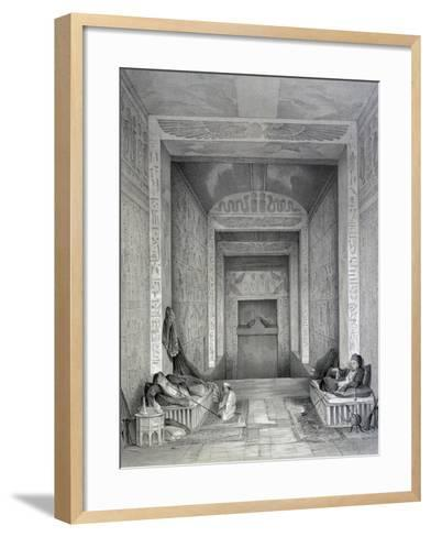 Interior of a Temple, Egypt, 19th Century-George Moore-Framed Art Print