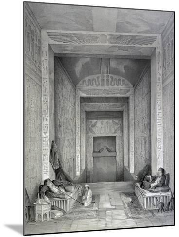 Interior of a Temple, Egypt, 19th Century-George Moore-Mounted Giclee Print