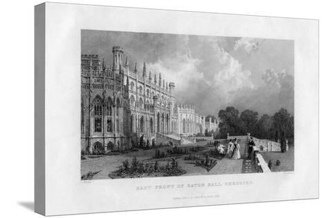 East Front of Eaton Hall, Cheshire, 1845-Frederick James Havell-Stretched Canvas Print