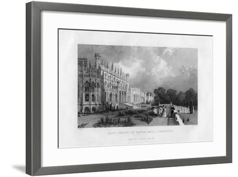 East Front of Eaton Hall, Cheshire, 1845-Frederick James Havell-Framed Art Print