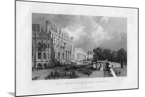 East Front of Eaton Hall, Cheshire, 1845-Frederick James Havell-Mounted Giclee Print