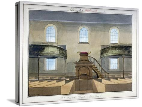 Interior View of Acton Place Chapel, Southwark, London, 1825-G Yates-Stretched Canvas Print