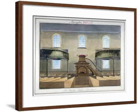Interior View of Acton Place Chapel, Southwark, London, 1825-G Yates-Framed Art Print