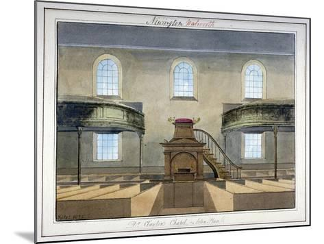 Interior View of Acton Place Chapel, Southwark, London, 1825-G Yates-Mounted Giclee Print