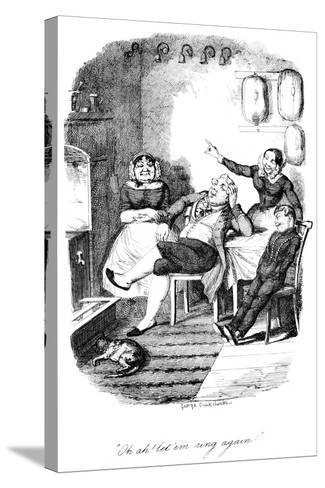 Oh Ah! Let 'Em Ring Again!, C1840S-George Cruikshank-Stretched Canvas Print