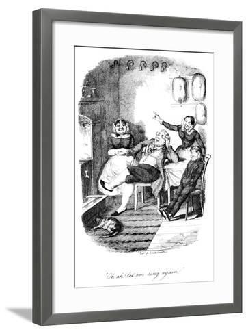 Oh Ah! Let 'Em Ring Again!, C1840S-George Cruikshank-Framed Art Print