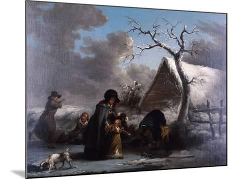 Skating, 1792-George Morland-Mounted Giclee Print