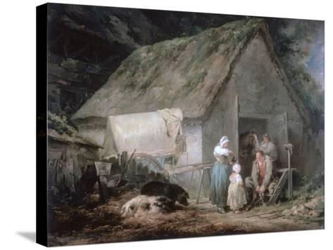 Morning: Higglers Preparing for Market, 1791-George Morland-Stretched Canvas Print