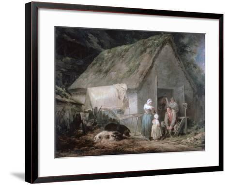 Morning: Higglers Preparing for Market, 1791-George Morland-Framed Art Print
