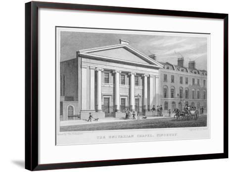 The Unitarian Chapel, South Place, Finsbury, London, 1828-Frederick James Havell-Framed Art Print