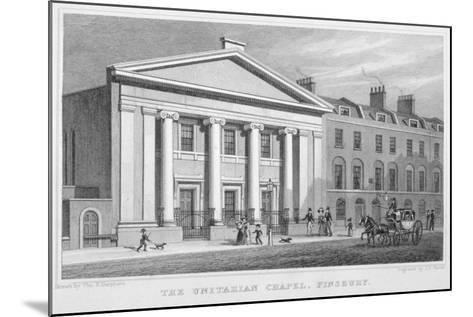 The Unitarian Chapel, South Place, Finsbury, London, 1828-Frederick James Havell-Mounted Giclee Print