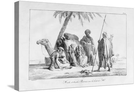 The Rest of the Bedouin Arabs by the Nile, Egypt, 1819-G Engelmann-Stretched Canvas Print