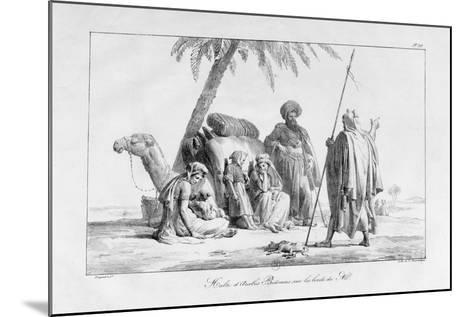 The Rest of the Bedouin Arabs by the Nile, Egypt, 1819-G Engelmann-Mounted Giclee Print