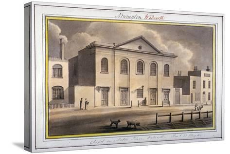 Acton Place Chapel, Southwark, London, 1825-G Yates-Stretched Canvas Print