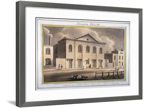 Acton Place Chapel, Southwark, London, 1825-G Yates-Framed Art Print
