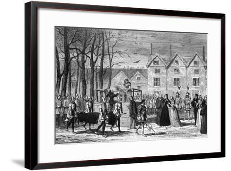 Lady Jane Grey Meeting the Body of Her Husband on the Way to the Scaffold, 1554-George Cruikshank-Framed Art Print
