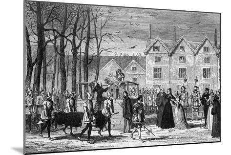 Lady Jane Grey Meeting the Body of Her Husband on the Way to the Scaffold, 1554-George Cruikshank-Mounted Giclee Print