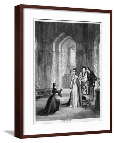 Lady Jane Grey Imploring Queen Mary to Spare Her Husband's Life, 1554-George Cruikshank-Framed Art Print