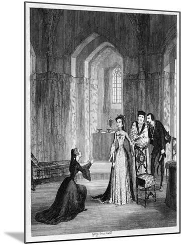 Lady Jane Grey Imploring Queen Mary to Spare Her Husband's Life, 1554-George Cruikshank-Mounted Giclee Print