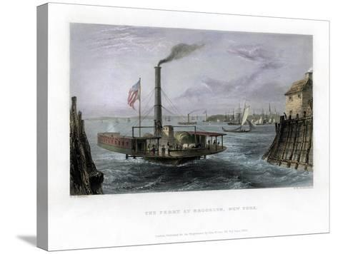 The Ferry at Brooklyn, New York, USA, 1838-George Richardson-Stretched Canvas Print