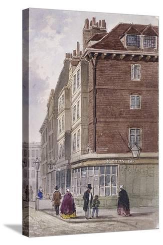 Fleet Street, London, C1845-Frederick Napoleon Shepherd-Stretched Canvas Print
