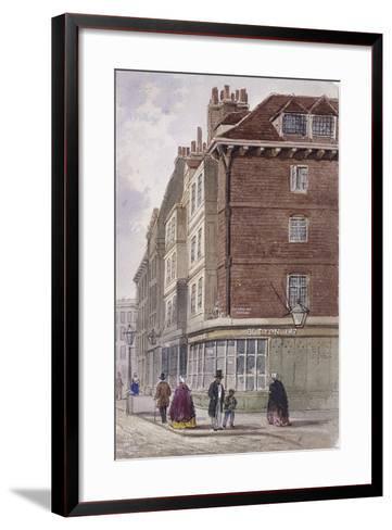 Fleet Street, London, C1845-Frederick Napoleon Shepherd-Framed Art Print