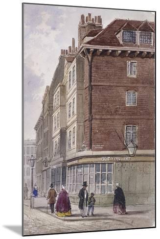 Fleet Street, London, C1845-Frederick Napoleon Shepherd-Mounted Giclee Print