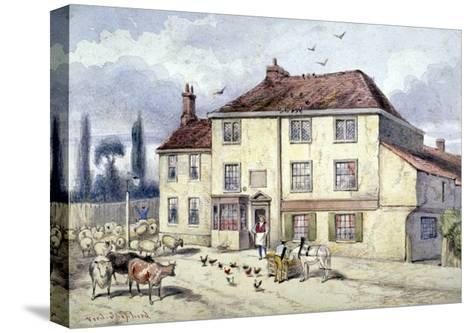 View of the Old Pied Bull Inn, Islington, London, C1840-Frederick Napoleon Shepherd-Stretched Canvas Print