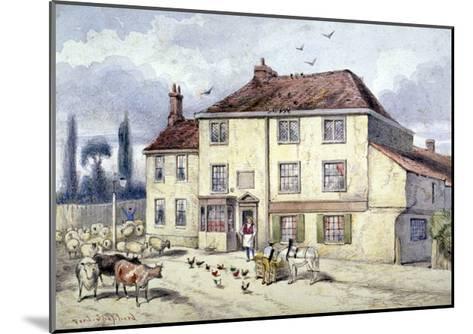 View of the Old Pied Bull Inn, Islington, London, C1840-Frederick Napoleon Shepherd-Mounted Giclee Print
