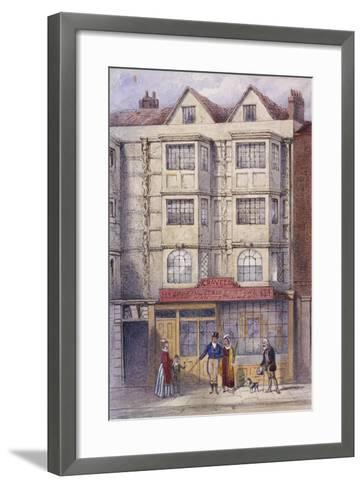 Aldersgate Street, London, C1850-Frederick Napoleon Shepherd-Framed Art Print