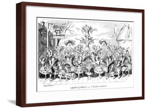 Capricornus - a Caper-O'-Corns, 19th Century-George Cruikshank-Framed Art Print