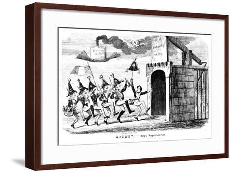 August - Idees Napoliennes, 19th Century-George Cruikshank-Framed Art Print