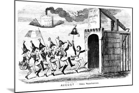 August - Idees Napoliennes, 19th Century-George Cruikshank-Mounted Giclee Print