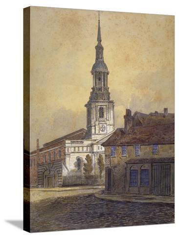 St Leonard's Church, Shoreditch, London, C1815-George Dance-Stretched Canvas Print