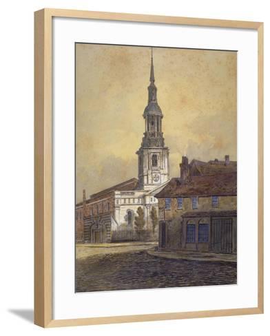 St Leonard's Church, Shoreditch, London, C1815-George Dance-Framed Art Print
