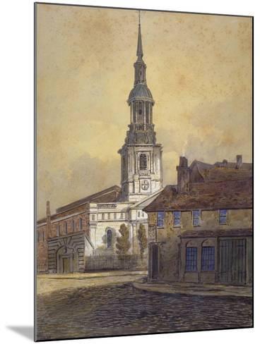 St Leonard's Church, Shoreditch, London, C1815-George Dance-Mounted Giclee Print