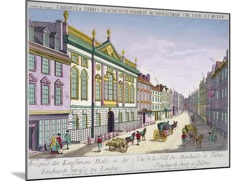 The New Ironmongers Hall in Fenchurch Street, City of London, 1750-George Godofroid Winkler-Mounted Giclee Print