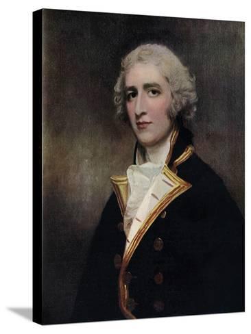Captain William Bentinck (1764-181), Naval Commander, 1787-1788-George Romney-Stretched Canvas Print