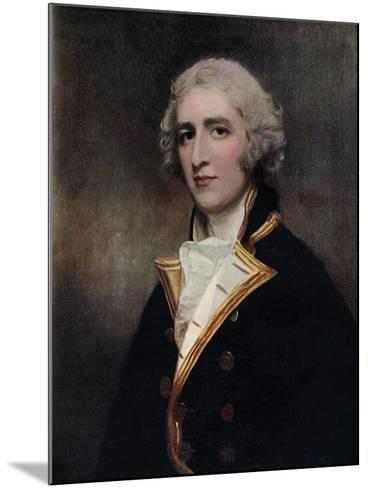 Captain William Bentinck (1764-181), Naval Commander, 1787-1788-George Romney-Mounted Giclee Print